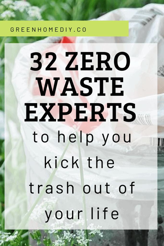 32 Zero Waste Experts