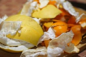 Citrus peels for compost