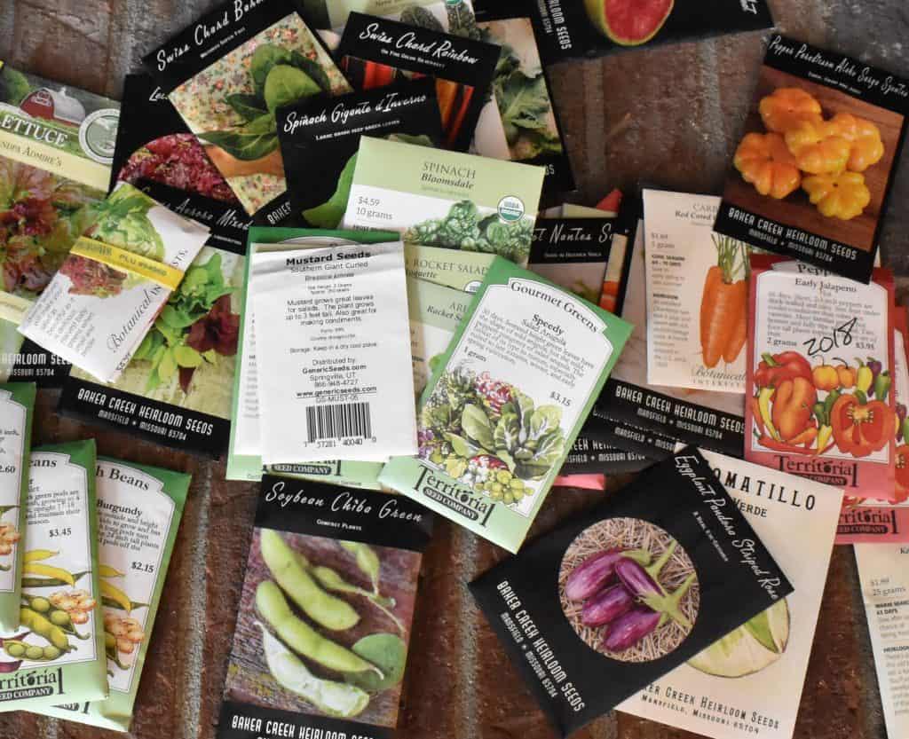 Seeds ready for survival garden