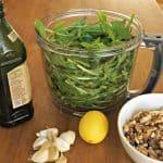 Vegan Dandelion Pesto by the Belgian Foodie