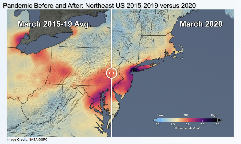 pandemic before and after air quality