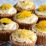 Dandelion Lemon Paleo Cupcakes by Forest and Fauna