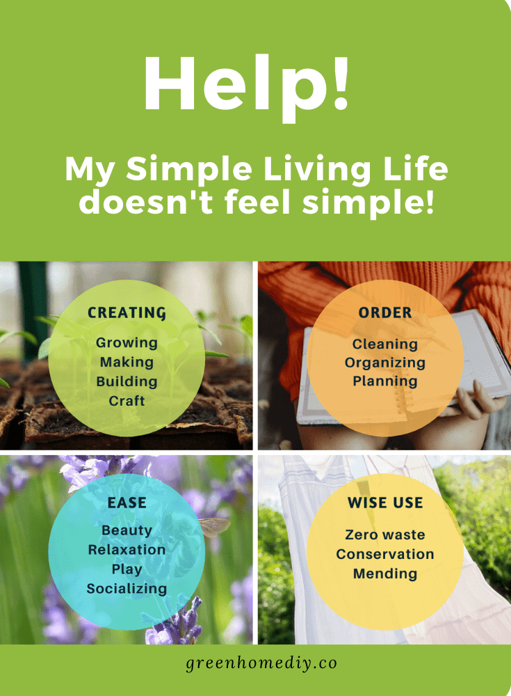 Pinterest graphic Simple Living Schedule