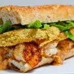 Fried Green Tomato Po' Boy Sandwich