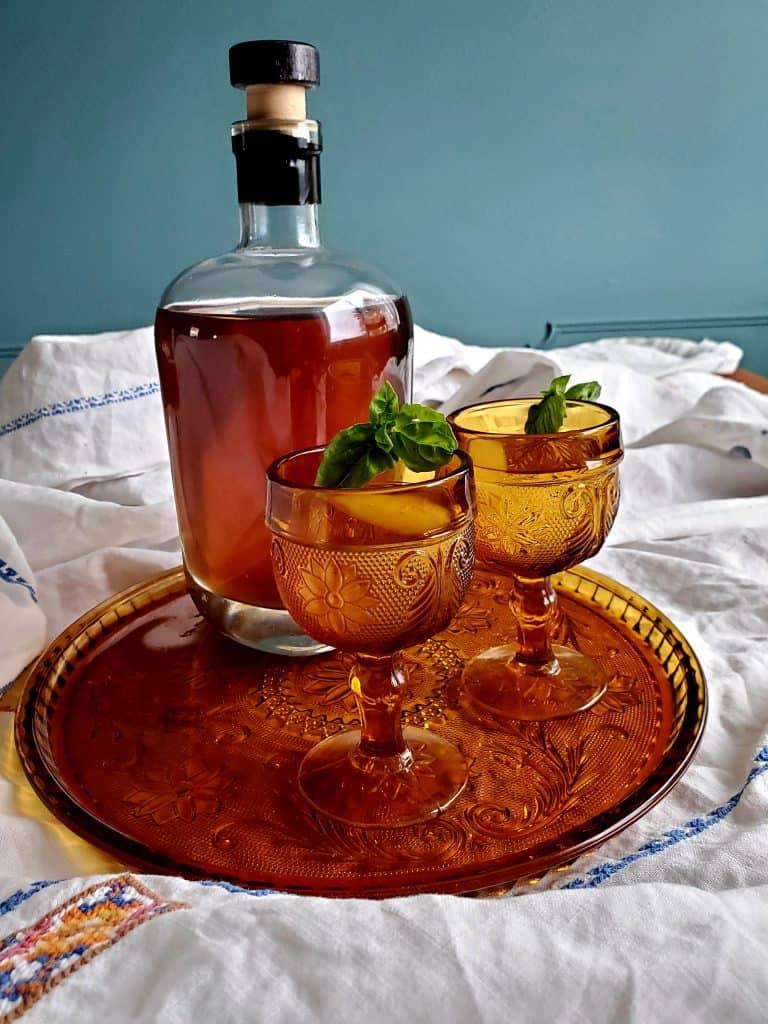 Make basil simple syrup for cocktails or flavoring delicate desserts